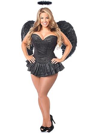 b1a86e0b7bd1b Daisy corsets Women s Top Drawer 3 Pc Glitter Dark Angel Corset Dress  Costume