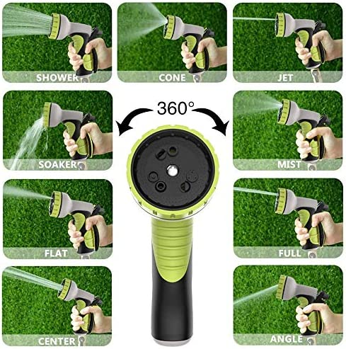 QHWJ Expandable Garden Water Hose Pipe,High Temperature Resistant Natural Rubber Leakproof Durable Car Wash Hose with Adjustable Water Gun for Watering Plants,30m