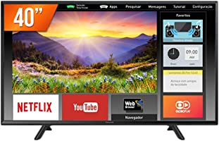 """Smart TV LED 40"""" Full HD Panasonic, Conversor Digital, 2 HDMI, 1 USB, Bluetooth, Wi-Fi - TC-40FS600B"""