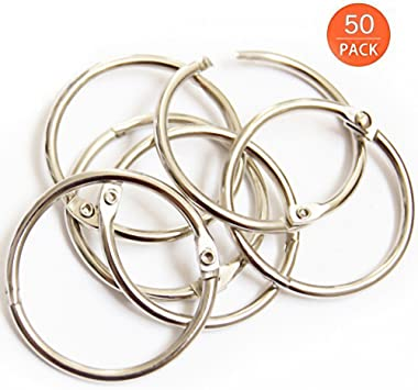 Office Book Rings Metal Book Rings for School and Office Book Ring 85pc Assorted Sizes 1,1.5,2 Inch Key Rings Loose Leaf Book Rings Binder Ring