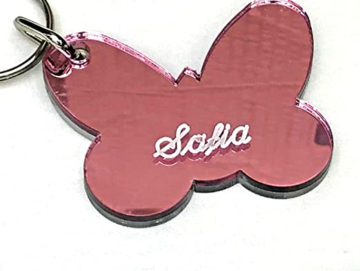 Personalized Name Tags key chain Butterfly Girl Teen