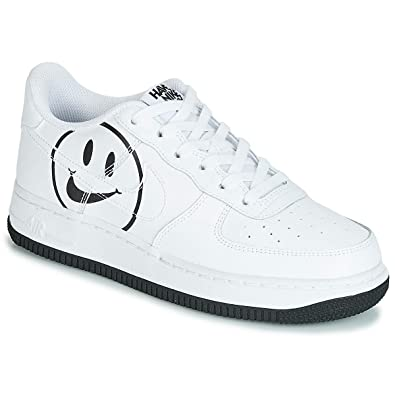 341e6efb9 Amazon.com | Nike Grade School Air Force 1 LV8 2 White/Black ...