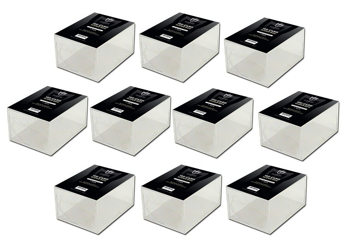 94b98dd3324 Amazon.com   10 Storage Box  Max Pro 2 Piece Slider Box - 100 Count Size -  For Baseball and other Trading Cards   Sports   Outdoors
