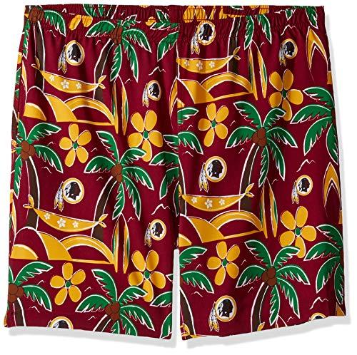 FOCO NFL Washington Redskins Mens Tropical Swim Suit TrunksTropical Swim Suit Trunks, Team Color, XL