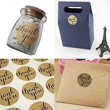 Amazon.com: 12 pegatinas de papel Kraft para sello de papel ...