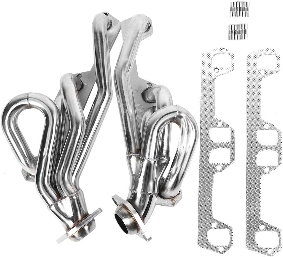 Stainless Steel Header Exhaust System Kit fit for 1992 1993 1994 1995 1996 1997 1998 1999 2000 2001 2002 2003 2004 Dodge 5.2L V8 Engine