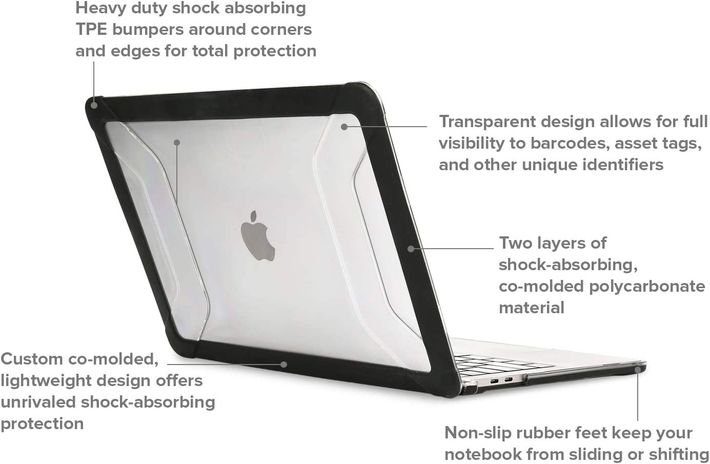 Apple MacBook Air 13 Case Heavy Duty Hard Shell Impact resistant Rubber Bumper