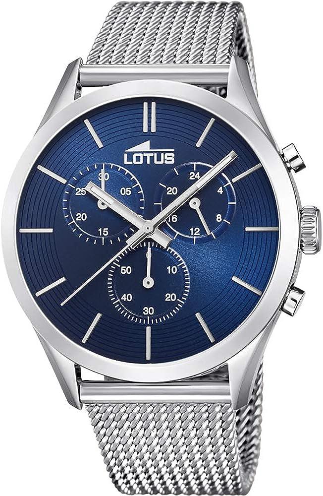 Lotus Reloj para de Cuarzo analógico con Correa en Acero Inoxidable 18117/4