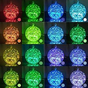 33Ft 100LEDs Fairy Lights String Lights Led Color Changing String Lights Twinkle Lights with Remote for Bedroom Indoor Christmas Wedding Costume 16 Colors (USB Style)