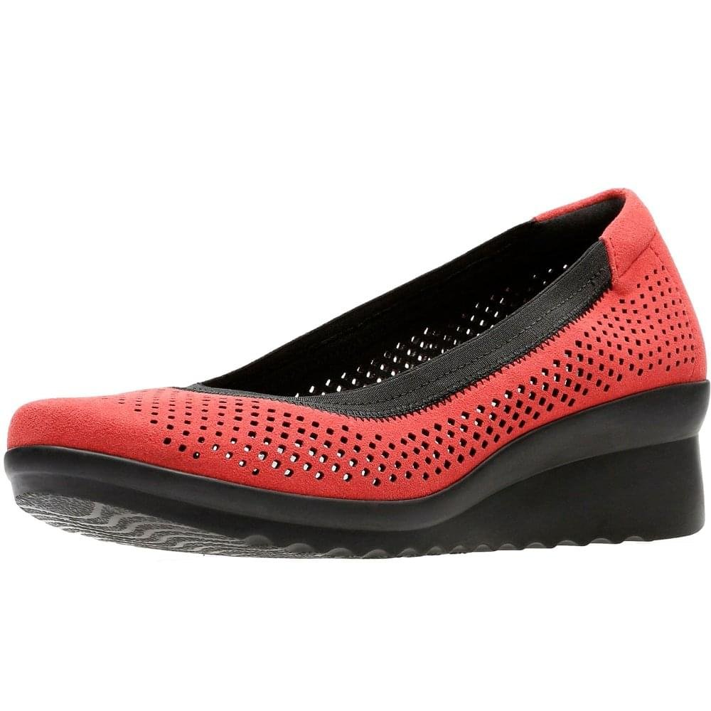 Clarks Caddell Trail, Zapatos de Tacón para Mujer 37 EU Rojo