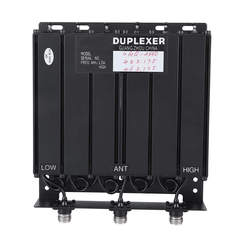 Taidda 50W Duplexer, Compact Sturdy Durable 50W 6 Cavity Duplexer UHF Duplexer TX:455.175 RX:465.175 N Connector by Taidda