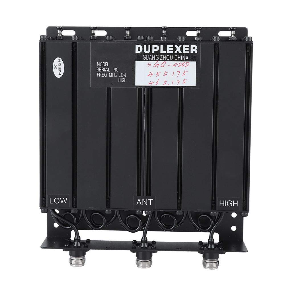 50W 6 Cavity UHF Duplexer with Multiple Stop-Band Filters, TX:455.175 RX:465.175 N Connector,Min/Max TX and RX Frequency Difference: UHF 3mhz/7mhz
