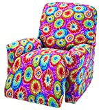 Madison Stretch Jersey Recliner Slipcover, Large, Geometric, Tie Dye