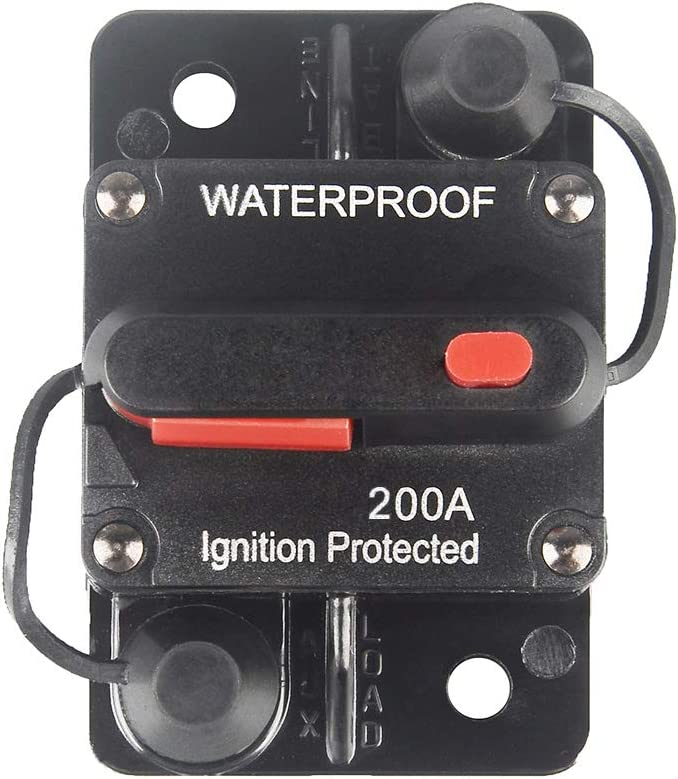 200A Panel Wall Mount Circuit Breaker Kill Stop Switch Water Resistant