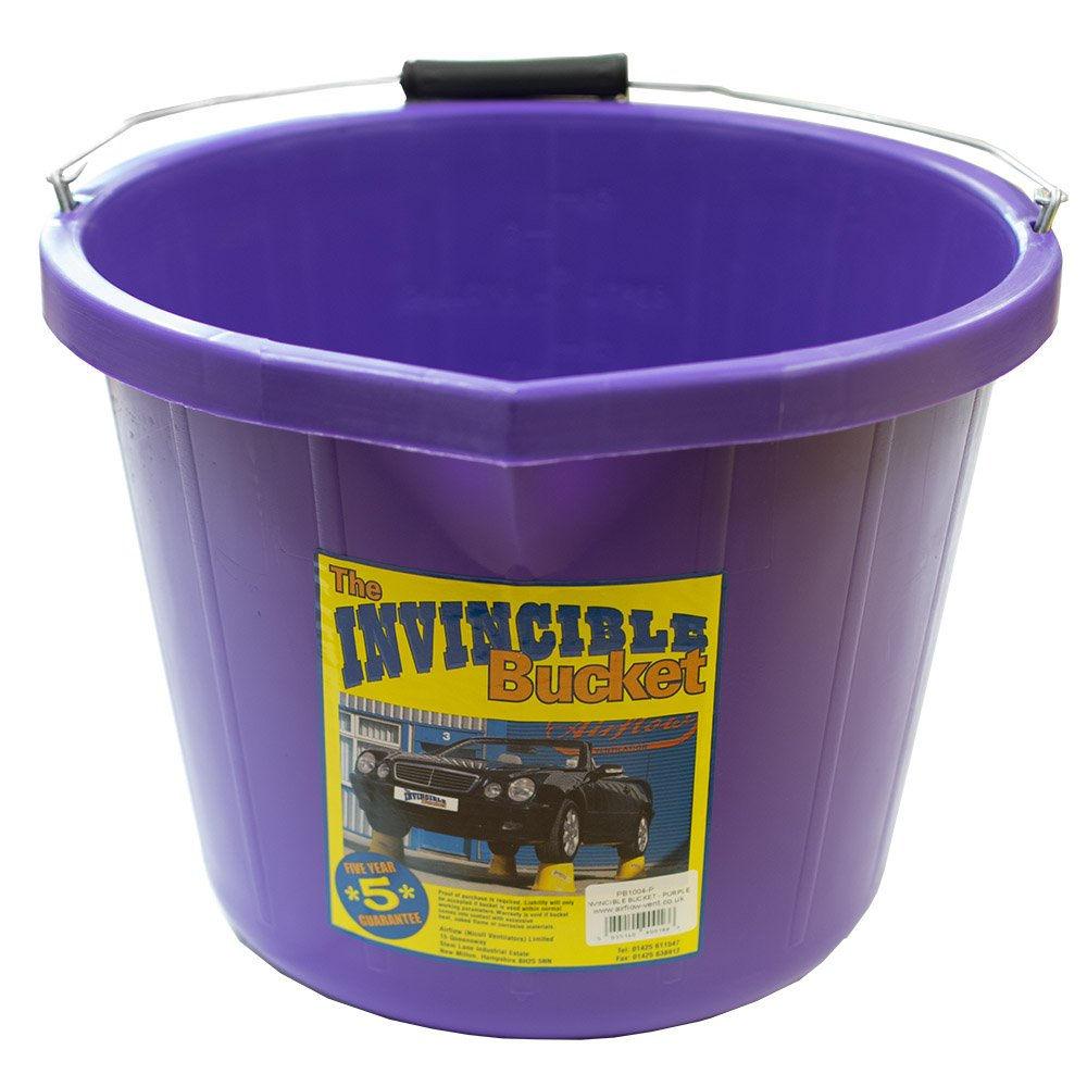 Airflow Heavy Duty Invincible Builders Bucket Purple 3 Gallon 15 Litre