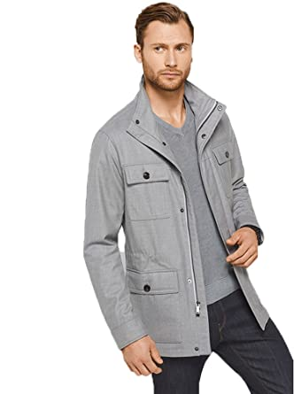 6490bd492bf7b Image Unavailable. Image not available for. Color  Michael Kors Hybrid  Field Wool Jacket ...