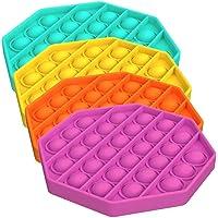 HOHOFAN 4st Pop It Fidget leksak, Push Pop Pop bubbla sensorisk Fidget leksak, kläm sensorisk leksak, autism speciellt…