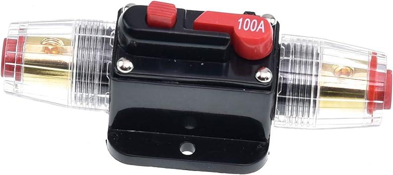 20A-100A Amp In-Line DC 12V  Circuit Breaker Solar//Audio//Car//Video Fuse Holder