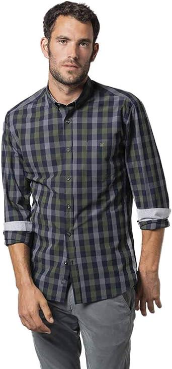 Etiem Camisa Hombre Sport Slim Cuadro XXL: Amazon.es: Ropa y accesorios