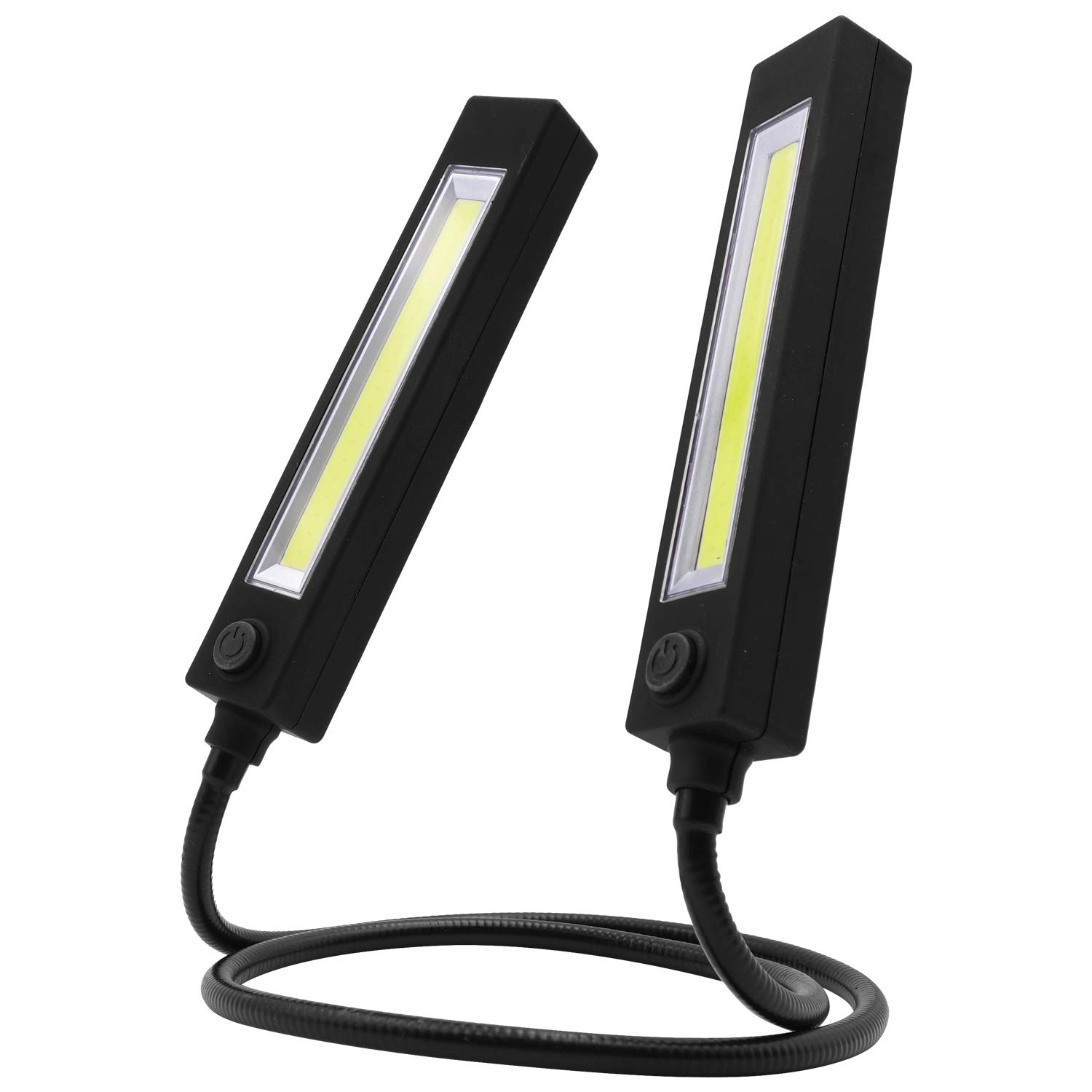 Hands Free Mobile Portable LED Work Reading Lights, great use for camping, hiking, jogging, fishing, home projects, as Desk Lamp, Flexible Long Arms Neck – 3 Settings; High, Low, Blinking, Rectangular