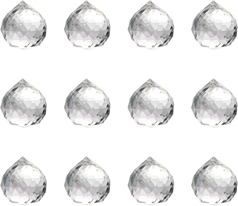 Miystn Prisma Fotografia, Prisma Cristal, Comprar Bolas de Cristal, Colgante para Lámpara de Techo, Feng Shui, Casa de la Boda, Decoraciones de Oficina (12 Piezas, 30mm)