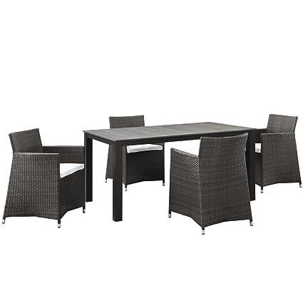 Amazon.com: Juego de comedor para patio al aire libre de 5 ...