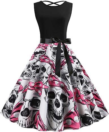 Vestidos de Halloween, Sexy Falda Las Mujeres de sin Manga Retro ...