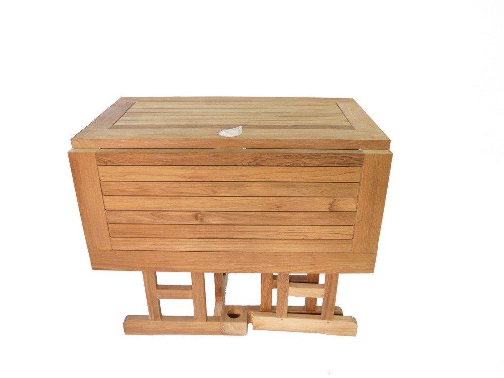 Amazon.com: Windsor – Mesa de madera de teca de grado A ...