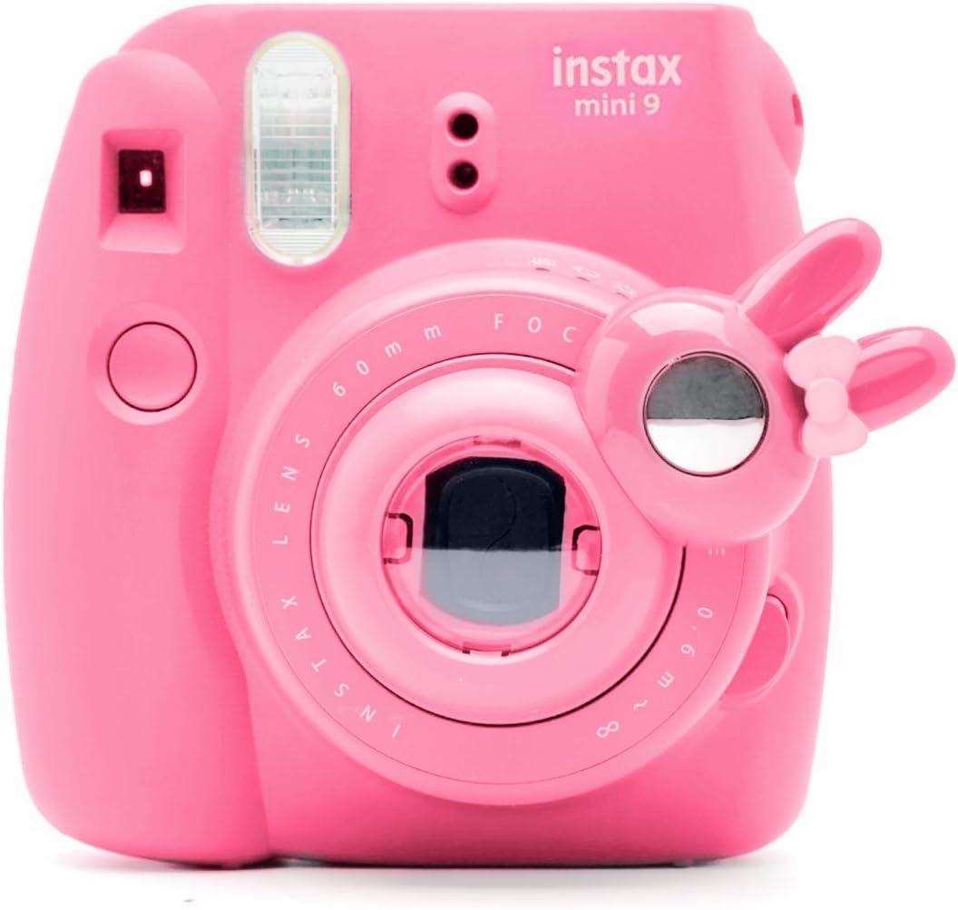 Cute Bunny Selfie and Close Up Lens Shot Mirror for Fujifilm Instax Mini9 Mini 8 Mini11s Hellokitty Instant Camera (Flamingo Pink)