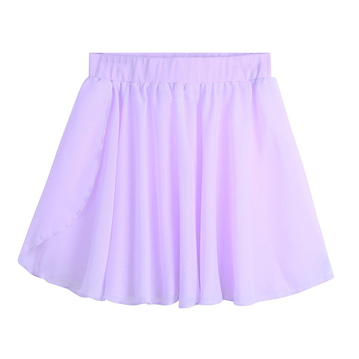 Tiaobug Kinder Mä dchen Ballettrock Chiffonrock Tanzen Rock - Elastischer Bund - Seitenschlitz - Halbtransparent Rö ckchen in den Farben rosa, schwarz, violett und blau.