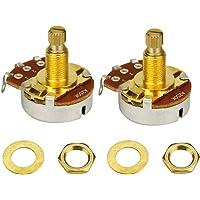 IKN 2pcs color dorado A250K tonos potenciómetros