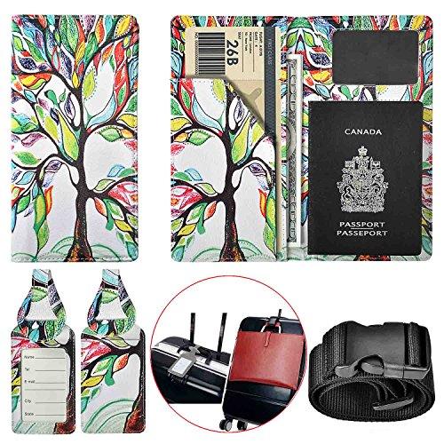 Travel Wallet Vegan Leather Passport Holder Cover Case for Travel