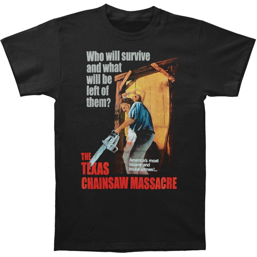 Impact Texas Chainsaw Massacre Horror Thriller Movie Survives Adult T-Shirt Tee