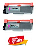 Bramacartuchos - 2 X Tóner compatible con Brother Tn2320 Alta Capacidad DCP-L2520DW, HL-L2300D, HL-L2340DW, HL-L2360DN, HL-L2365DW, MFC-L2700DW, MFC-L2720DW, MFC-L2740DW DOS NEGROS