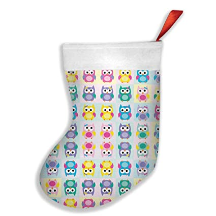 girl owls christmas stocking santa snowman reindeer xmas decorations - Girl Christmas Stocking