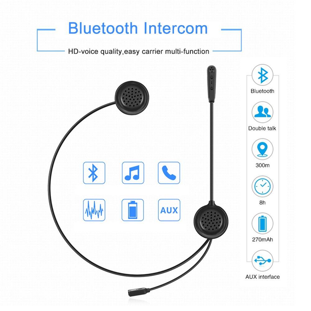 Helmet Intercom Bluetooth Headset Wireless Interphone Full Duplex with Universal Microphone B-Qtech Motorcycle Communication System