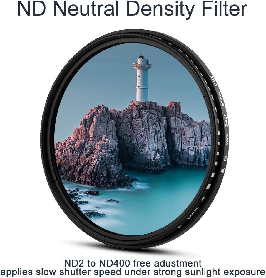 mit Center Pinch Objektivdeckel for Canon Nikon Sony Olympus und Andere DSLR Kameras Fotover 40.5mm Sternfilter 3 Teiliges 3 Slot Filterbeutel 4 Punkte, 6 Punkte, 8 Punkte