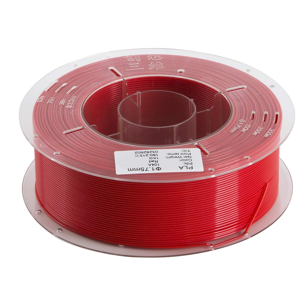 Creality 3D PLA-Filament 1.75mm 1KG-Spule fü r 3D-Drucker - Rot