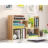 Desk Storage Organizer adjustable Desktop Display Shelf Rack Multipurpose Bookshelf Computer Desktop Storage for Office…