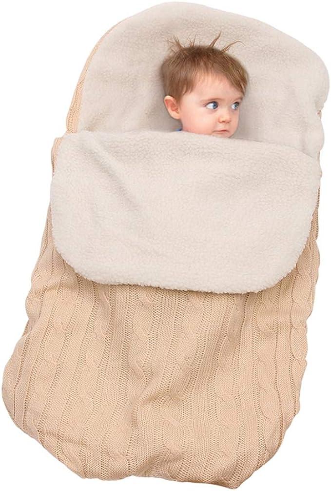 pink Neugeborenes Baby Gestrickt Wickeln Swaddle Decke Schlafsack f/ür 0-12 Monat Baby