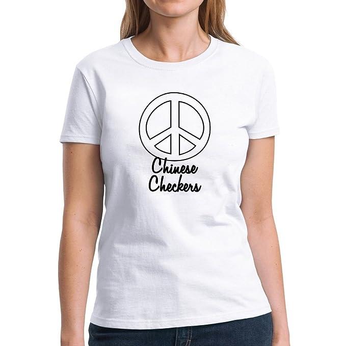 Amazon Eddany Peace Symbol Chinese Checkers Women T Shirt Clothing