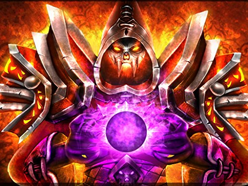 World of Warcraft Undead Warlock Class Fire Armor Game Fan Art 24x18 Poster Print