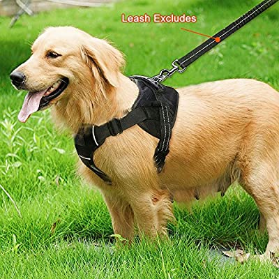 Pet Dog Harness No-Pull Pet Dog Vest Adjustable Dog Harnesses, Outdoor Dog Training Harness Vest for Medium and Large Dogs - Black of Medium