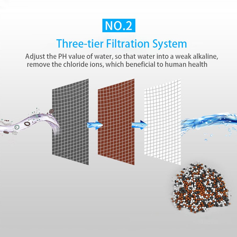 Lionina haute puissance universel filtre de douche ions n/égatifs purificateur deau cartouche de filtre /à charbon actif pour robinets de douche Bact/éricide-fongicide Soufre et dautres substances nocives purificateur dfiltre