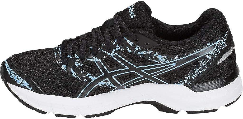 Asics Gel-excite 4, Chaussures De Course Pour Entraînement Sur Route Femme Cloche Noire Et Bleue