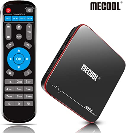 MECOOL Android TV Box, 2 GB RAM + 16 GB ROM Quad Core DDR3 Cortex-A53, Smart TV Box 3D 4K HDR Ultra HD Soporte HDMI/H.265/2.4 G WiFi: Amazon.es