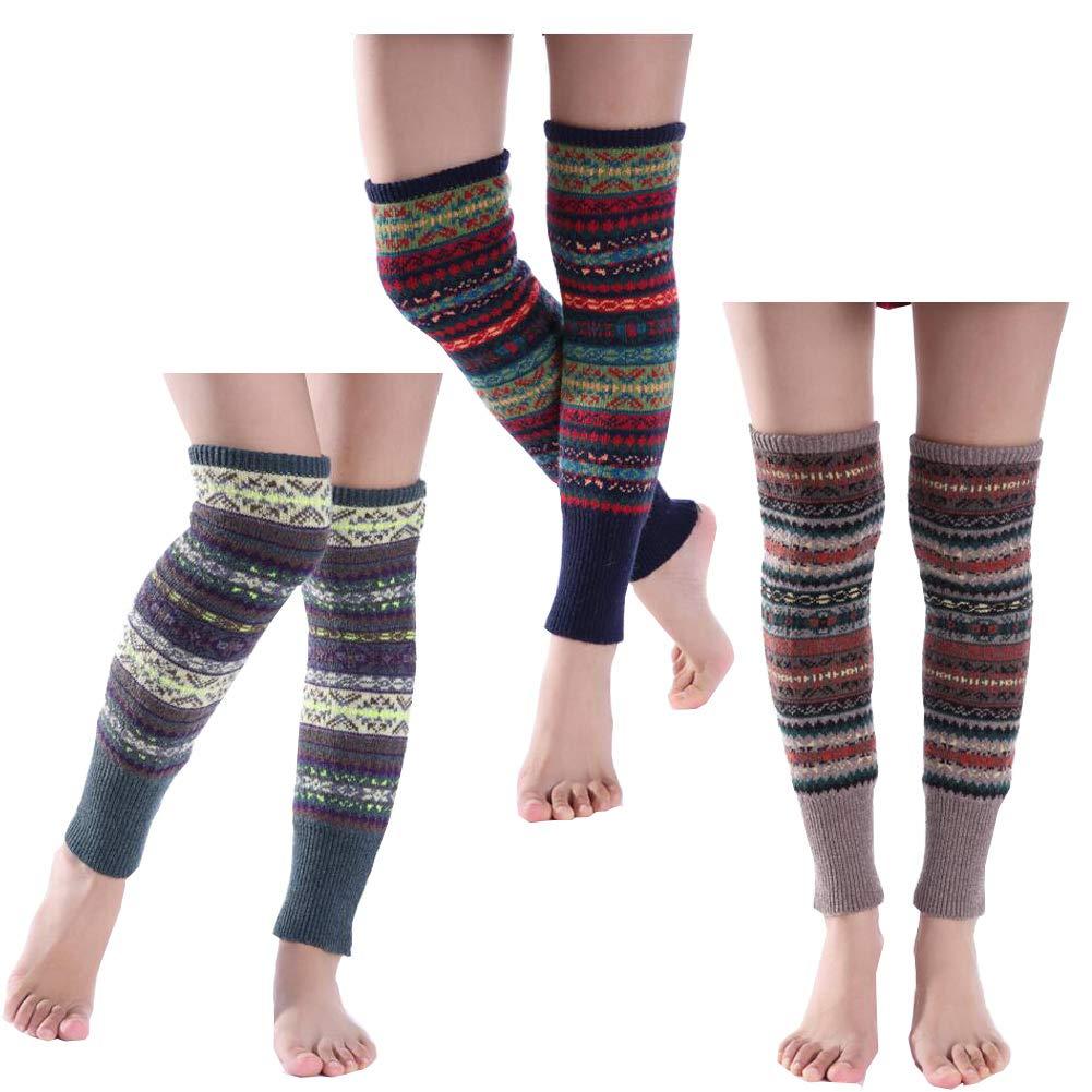 Lucky staryuan ® Cyber Monday Women Set of 3 Thicker Wool Knit Leg Warmer Luckystaryuan wtns201601jycas2