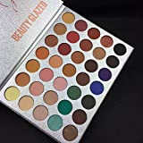 Beauty : Beauty Glazed Eyeshadow Palette 35 Colors Eye Shadow Powder Make Up Waterproof Eye Shadow Palette Cosmetics