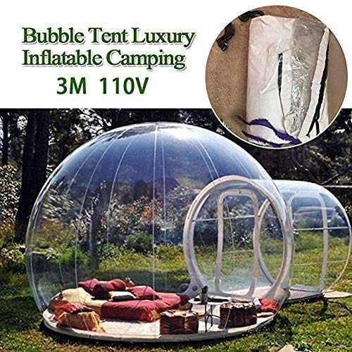 HUKOER Luxurious Outdoor Single Tunnel Inflatable Bubble Tent Family Camping Backyard Transparent (Bubble Backyard)