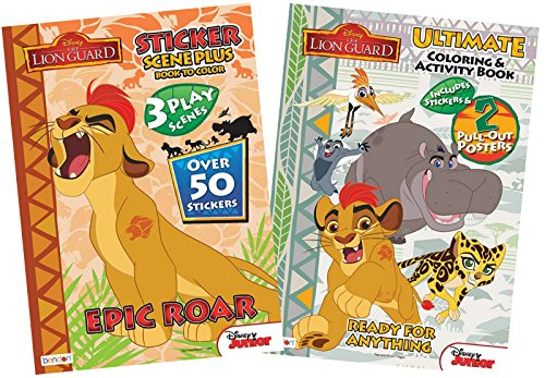 bundle-2-items-disney-juniors-the-lion-guard-epic-roar-sticker-scene-plus-ready-for-anything-ultimat